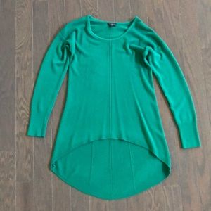 The Limited long high low emerald green sweater